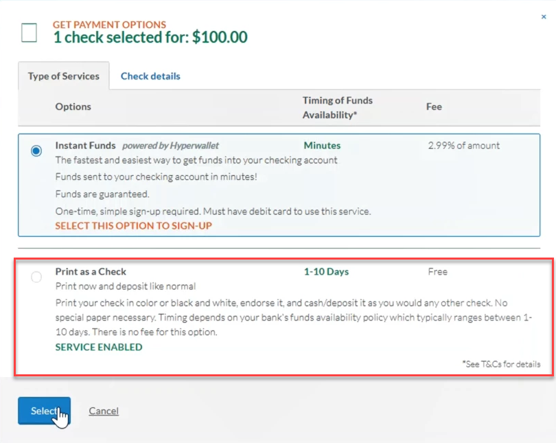 Can I turn Instant Funds off and on? – Deluxe eChecks ®